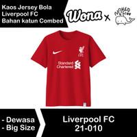 Kaos N&F Jersey Bola Liverpool FC Untuk Dewasa-Bigsize Bahan Katun