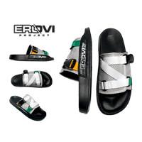 sandal pria wanita terbaru erovi project   sandal slip on terbaru