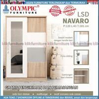 Lemari Pakaian 2 Pintu Sliding Cermin LSD NAVARO Olympic