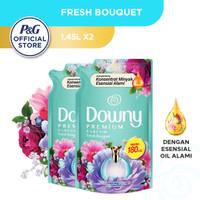 Downy Pelembut & Pewangi Pakaian Fresh Bouquet Refill 1.45L - Isi 2