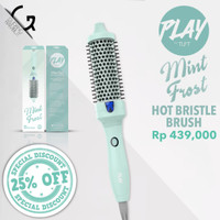 Play by TUFT Mint Frost Hot Bristle Brush - Catokan Sisir 2021 Edition