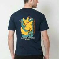 Glorio T-shirt Casual/Kaos Pria/T-shirt Premium] Pokemon - Navy, M