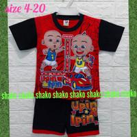 Baju Kaos Setelan Pendek UPIN & IPIN Pakaian Anak Laki Laki