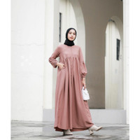 Baju Gamis Wanita Muslim Terbaru Kekinian Sofia Dress Moscrepe HQ