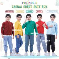 setelan baju kemeja anak baju formal anak pakaian pergi anak