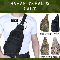 Tas Army Kanvas Pria Selempang Backpack Import / Tentara TNI Tactical