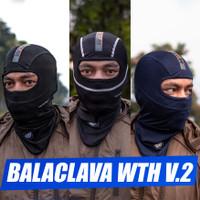 BALACLAVA WUTDAHECK V.2| Masker Helm Motor Premium Original WTH - HItam-putih