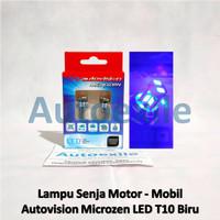 Autovision LED T10 W5W 2.5W Blue Biru Lampu Senja Kota Motor Mobil