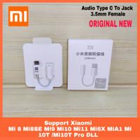 Spliter Type C Audio Converter To Aux 3.5mm Merk Xiaomi Original 100%