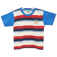 Natawa Kaos Oblong Anak Junior Salur Biru Merah Cream