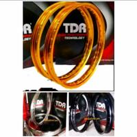 Velg TDR W Shape 185 Ring 17 Gold Silver Black Original not tk excel