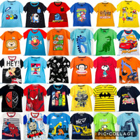 Paket Hemat Murah ISI 3 Baju / Kaos Anak Laki Usia 1-10 tahun/Random - random, 12-18 bulan