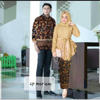 Couple Mariam Lengan Panjang - Baju Couple Pasangan Batik Kebaya