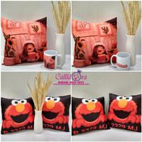Kado/hadiah custom bantal n mug/bantal ultah/hadiah sahabat/pernikahan