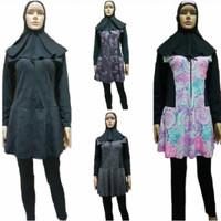 Baju Renang Dewasa Wanita Muslim Muslimah Panjang Motif Jumbo 4L 5L