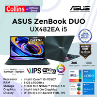ASUS ZENBOOK DUO UX482EA i5-1135G7 8GB 512GB 14 FHD Iris XE TOUCH OHS