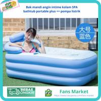 Bak mandi angin intime kolam SPA bathtub portable plus pompa listrik