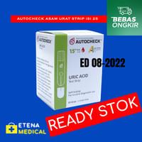 Strip AUTOCHECK Uric acid asam urat - isi 25 strips