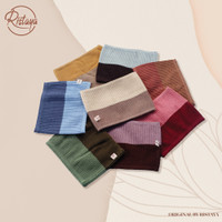 Ciput rajut premium 2 warna / inner bandana hijab two tone by Ristaya