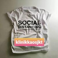 BAJU - KAOS KOREA JISOO BLACKPINK SOCIAL DISTANCING - TSHIRT CORONA