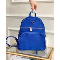 Tas Guess Paris Nylon Backpack Bag - DarkBlue