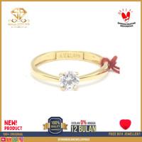 cincin emas kuning wanita perhiasan emas asli kadar 375 CMM1 R14