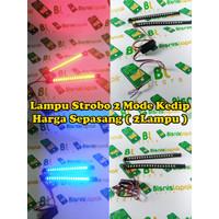 Lampu LED Strobo Blitz Flash Light DRL Variasi Motor Mobil 8124
