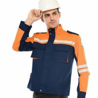 Baju Semi Jaket Wearpack Safety Seragam Kerja Proyek Teknisi OTRAHUM
