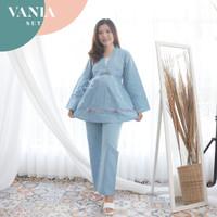 Baju Setelan Kerja Ibu Hamil Menyusui Kerja Muslim Vania Set - STJ 117