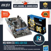 MOTHERBOARD MSI H81M-E33 | INTEL HASWELL | LGA1150