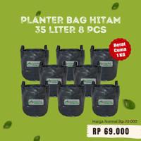 Paketan 8 pcs Planter Bag Hitam 35 Liter Pot Tanaman Buah Tabulampot