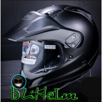 HELM ARAI TOURCROSS 3 FLAT BLACK   TOUR CROSS X3   SUPERMOTO HELMET