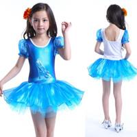 Baju balet princess Cinderella rok tutu sepatu kaca Disney princes ana