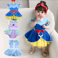 kostum snow white Cinderella ariel baju dress bayi Romper Disney princ