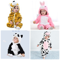 Baju piyama kostum anak bayi onesie animal hewan lucu import 0-5T