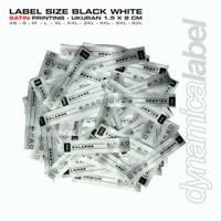 Label Size Satin Printing - Black White Label Baju - 6XL