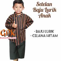 SETELAN BAJU Surjan / Lurik Anak ( Size 0, S, M )