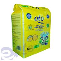 OTO Diapers Adult / Popok Dewasa model Perekat ukuran XL, isi 12 pcs