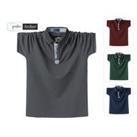 Kaos polo casual Pria Baju kaos berkerah cowok bahan Cotton Combed 30S
