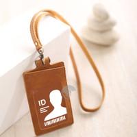 Name Tag ID Card Holder Temboro Coklat Kalung Premium ID Badge Leather