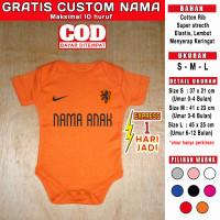 Jumper Bayi Belanda Netherlands GRATIS CUSTOM NAMA euro world cup baju