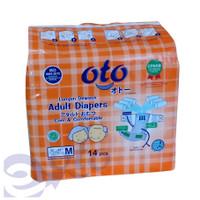 Oto Adult Diapers / Popok Dewasa Perekat Ukuran M - Isi 14 x