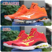 Sepatu Volly Mizuno Wlz 6 Grade Ori Super Premium Sepatu Olahraga - Red, 40