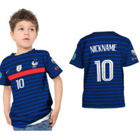 Kaos Jersey Bola Anak Laki laki Negara Peserta Euro 2020 Printing - Prancis, S