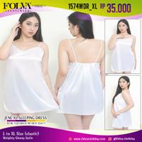 FOLVA baju tidur tanktop dress satin 1574WDR_XL big size XL jumbo