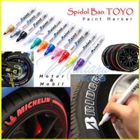 Spidol Ban TOYO Paint Marker Permanen Anti Air Motor Mobil