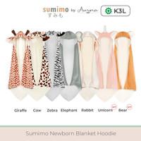 Aurora Baby Blanket Hoodie Bayi Selimut Topi Karakter Lucu Super Soft