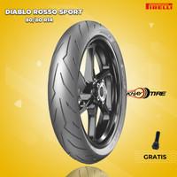 Ban Motor Matic // PIRELLI DIABLO ROSSO SPORT 80/80 Ring 14 Tubeless