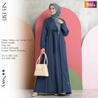 BAJU GAMIS wanita muslim katun polos dress muslimah NB B15 ori nibras