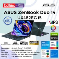 ASUS ZENBOOK DUO UX482EG i5-1135G7 8GB 512GB MX450 14 FHD TOUCH OHS